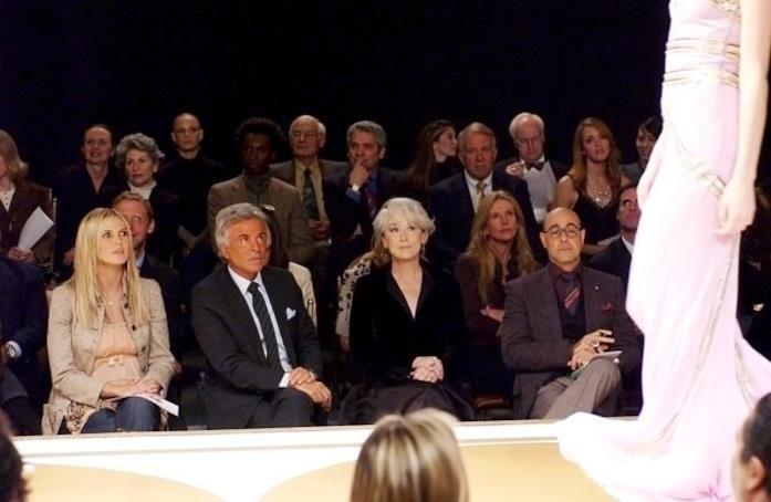 Heidi Klum a sinistra ne Il diavolo veste Prada