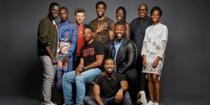 Il cast di Black Panther fuori dal set