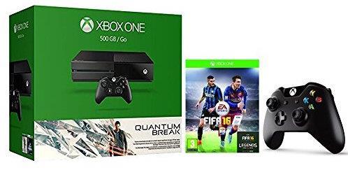 Xbox One 500Gb con Quantum Break e FIFA 16 e 2° Controller