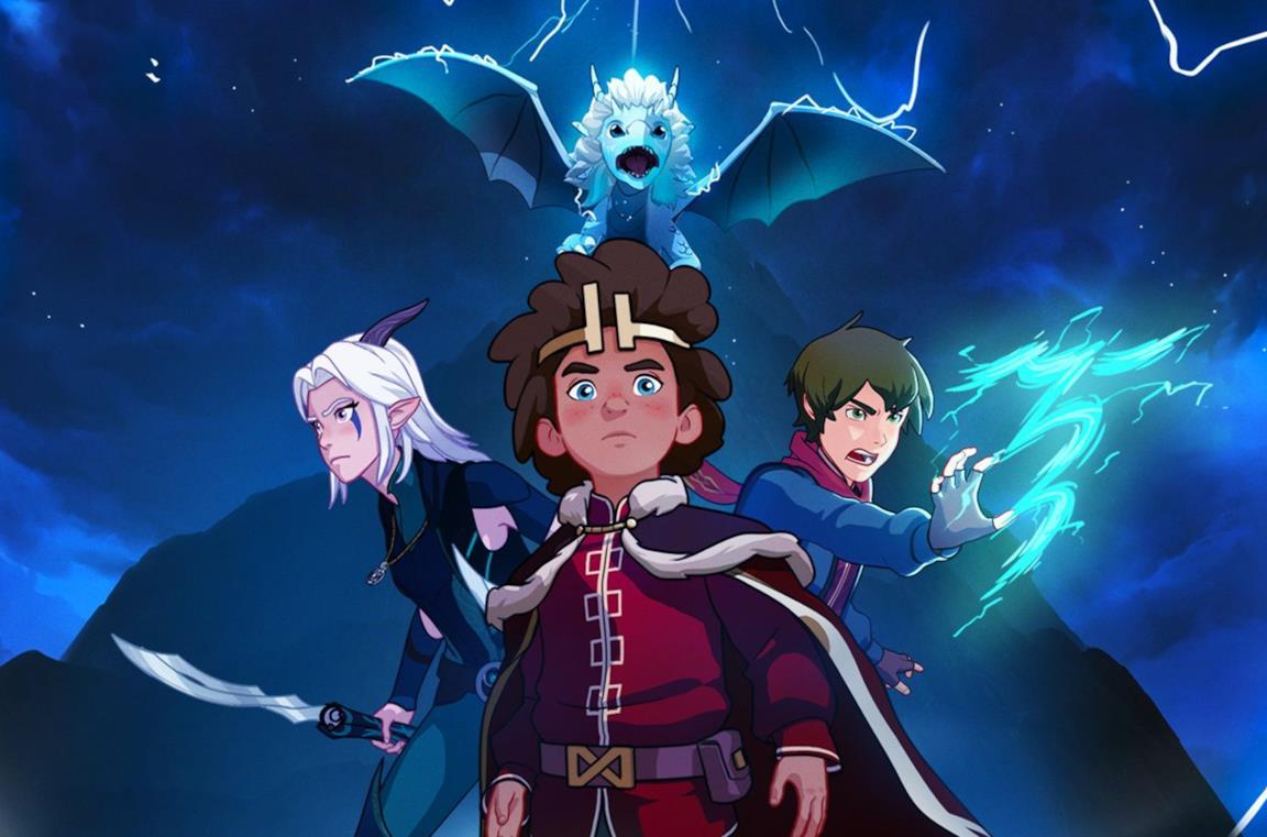 I protagonisti della serie animata The Dragon Prince sono pronti per una nuova sfida