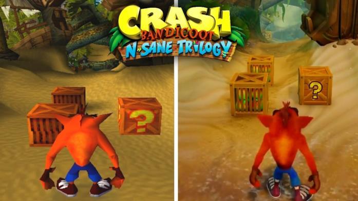 Un confronto tra l'originale Crash Bandicoot e la sua grafica in N. Sane Trilogy