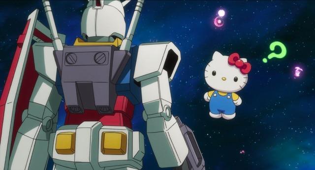 Gundam ed Hello Kitty anime