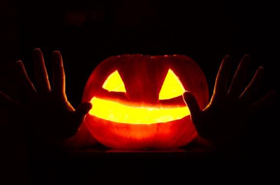 Una zucca di Halloween