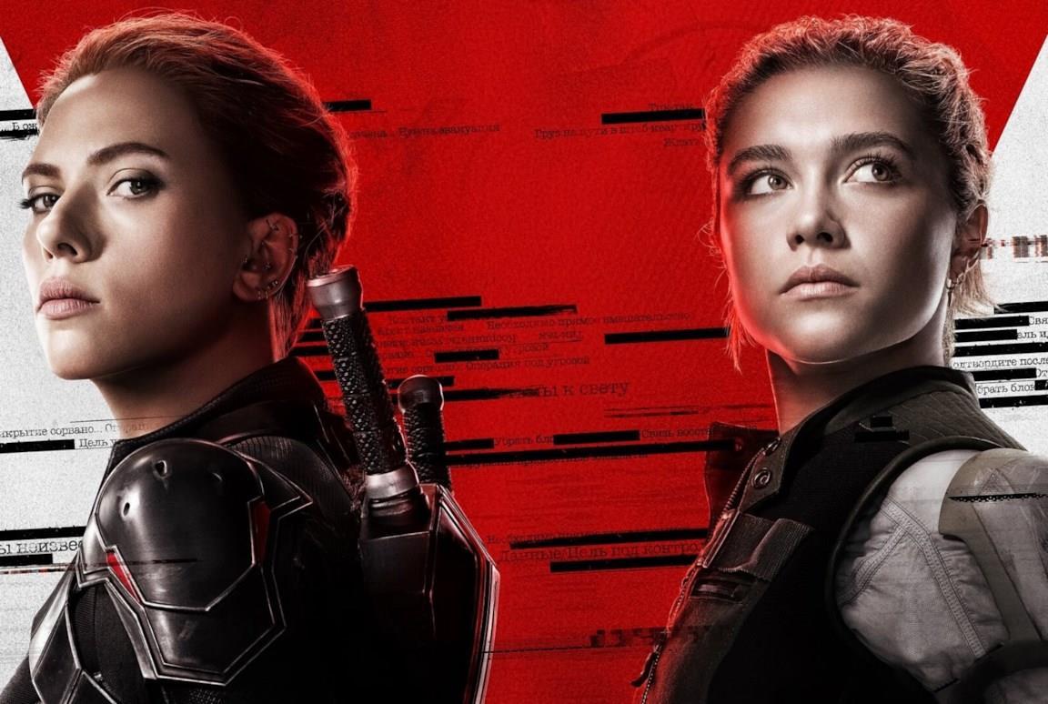 Un'immagine di Scarlett Johansson e Florence Pugh nel poster di Black Widow