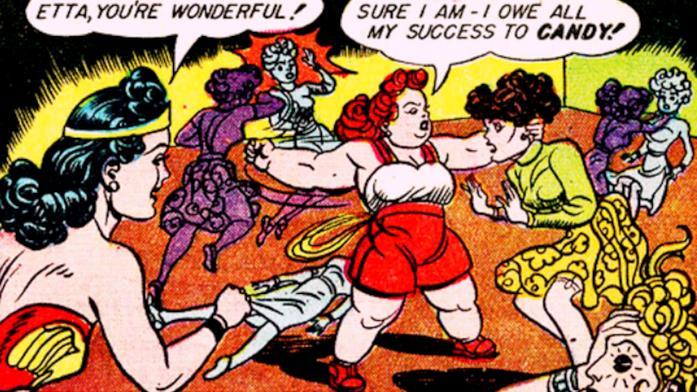 Wonder Woman ed Etta Candy nel fumetto DC