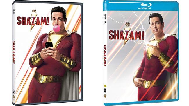 Shazam - il film con Zachary Levi in formato DVD e Blu-ray