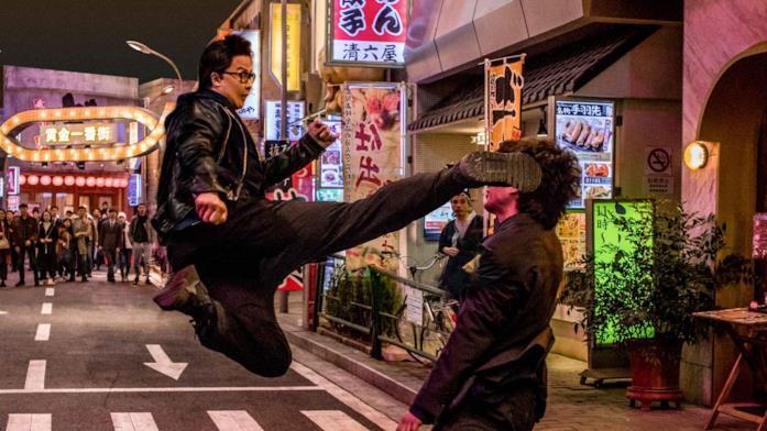 Donnie Yen in una scena del film Enter the Fat Dragon