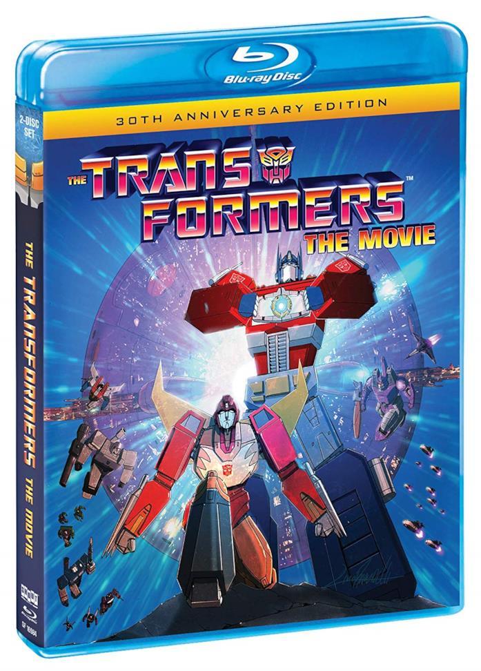 La cover del Blu-ray del 30esimo anniversario di The Transformers - The Movie