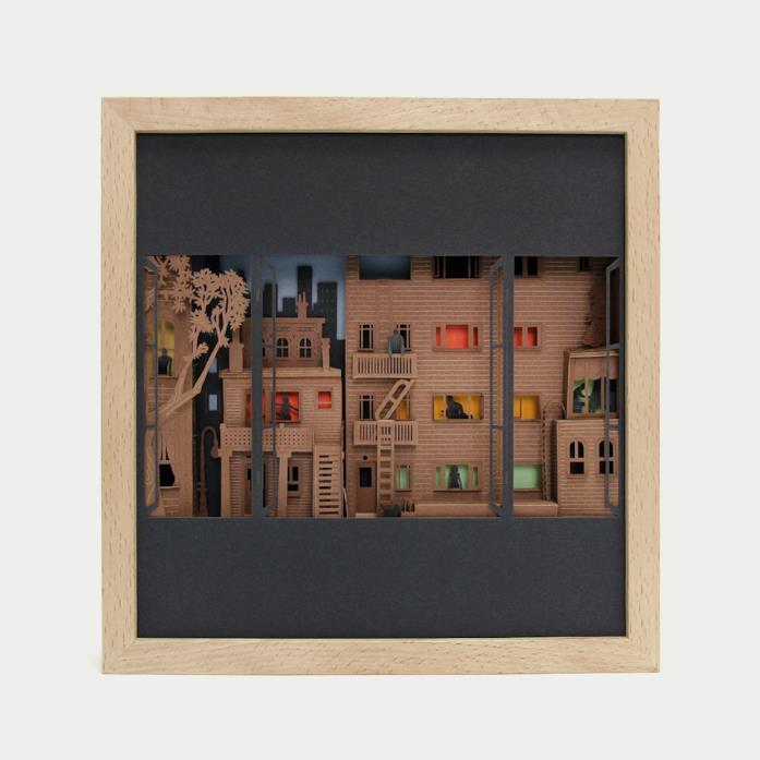 Il quadro 3D dell'artista Rubén Martìnez
