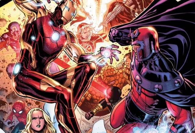 Dettaglio della cover di Avengers vs. X-Men #2