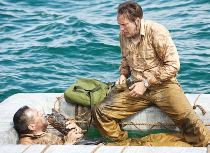 Il capitano McVay e il macchinista McWhorter dispersi nell'oceano
