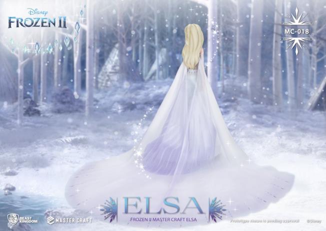 La statua 3D di Elsa di Frozen 2 di spalle