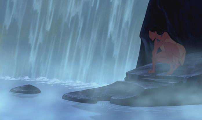 Una scena del film Pocahontas