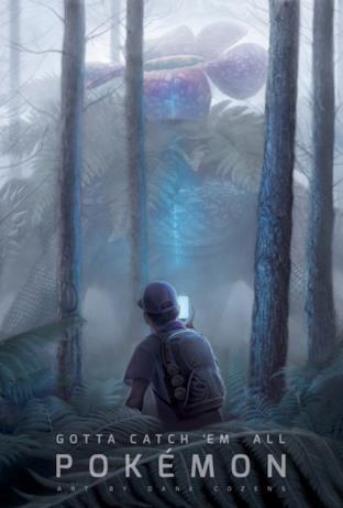 A caccia di Venosaur in Pokémon GO: l'illustrazione di Dane Cozens