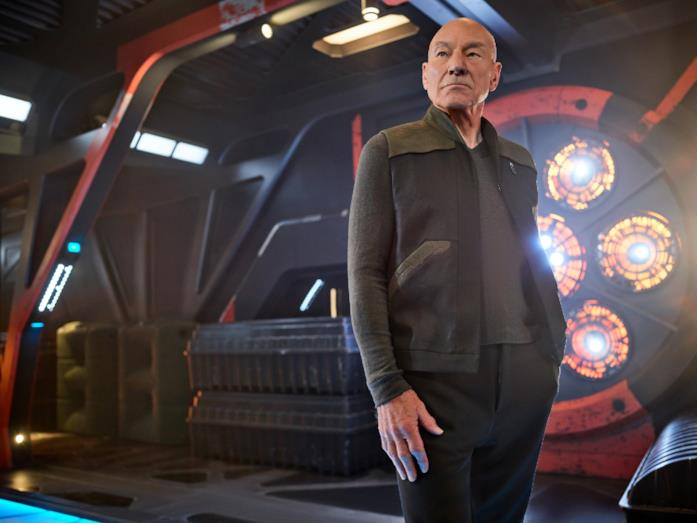 Picard sul set della serie Amazon