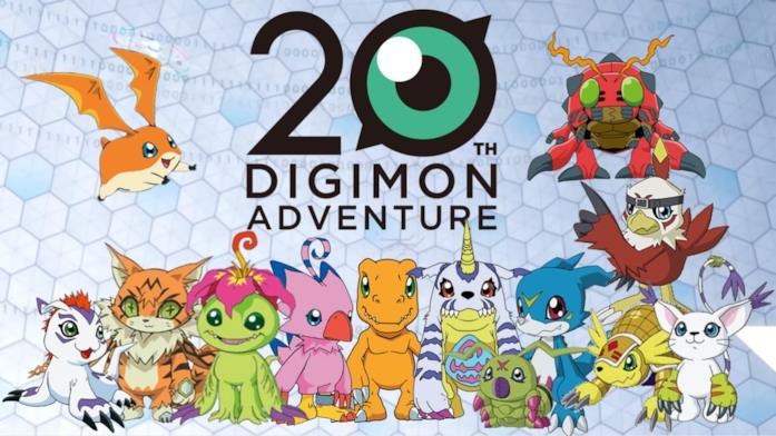 Digimon ventesimo anniversario