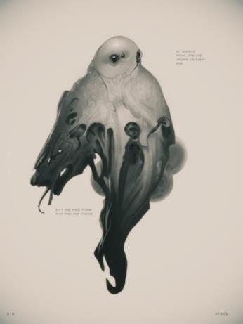 Arrival, nel terzo concept art di Konig è ritratto un misterioso alieno di taglia più piccola.
