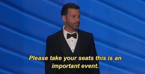 Jimmy Kimmel nel monologo iniziale degli Emmy