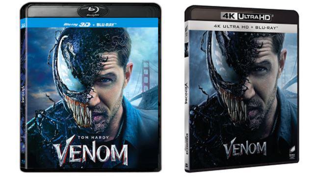 Venom - Home Video - Blu-ray 3D e 4K