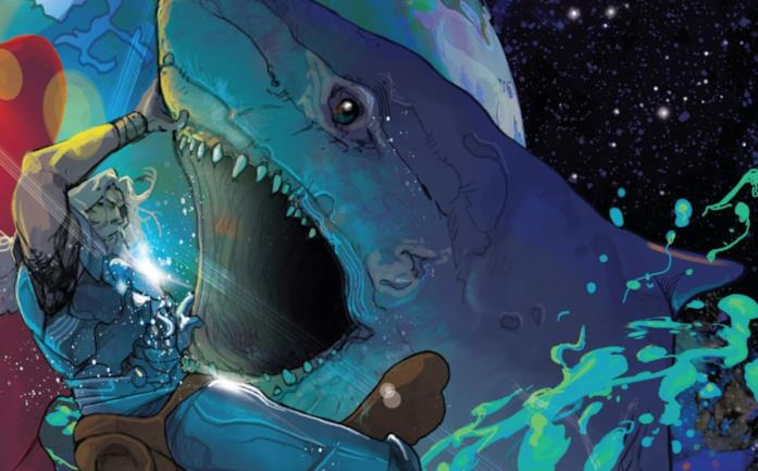 Uno Space Sharks contro Thor