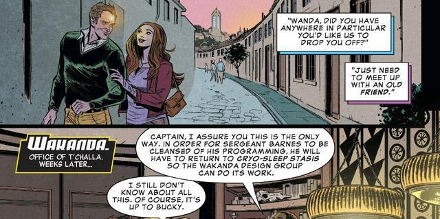 Scarlet e Visione si concedono un momento romantico anche nei comics