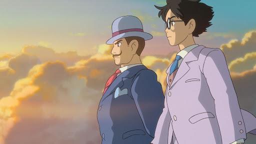 Caproni e Jiro in un sogno, al tramonto