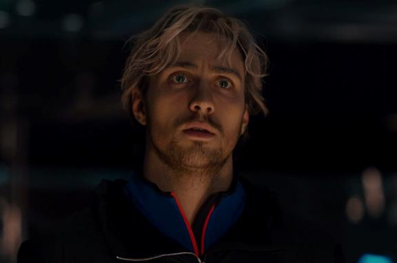 Aaron Taylor-Johnson è Quicksilver in Age of Ultron