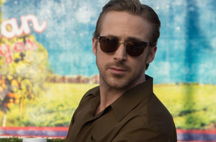 Primo piano di Ryan Gosling in La La Land