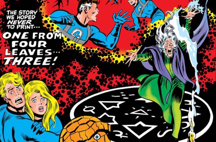 Dettaglio della cover di Fantastic Four #110
