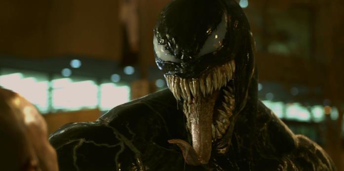 Venom si mostra nel film