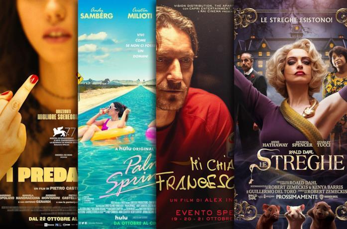 I poster de I predatori, Palm Springs, Mi chiamo Francesco Totti, Le streghe