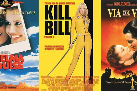 I Poster di Thelma e Louise, Kill Bill e Via col Vento