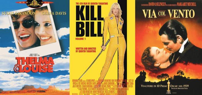 I Poster di Thelma e Louise, Kill Bill e Via col Vento