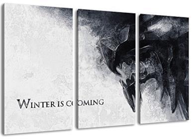 Winter is Coming, Game of Thrones foto, 3 pezzi tela