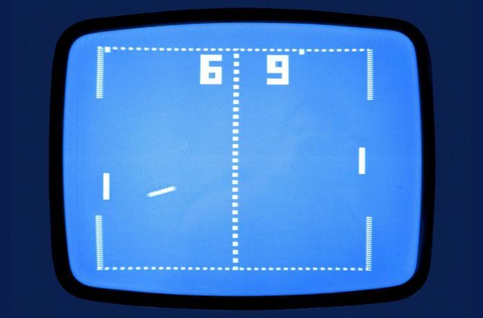 Una schermata di Pong