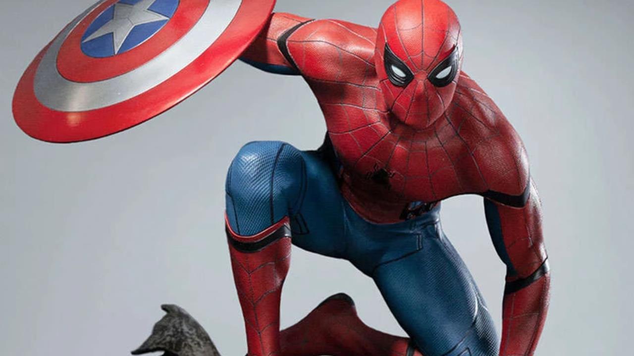 Lo Spider Man (con scudo) di Civil War diventa una statua da collezione