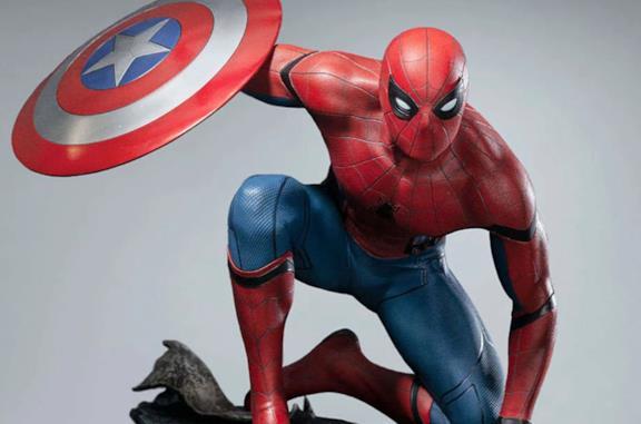 Spider-Man in Civil War ricreato da una statua da collezione