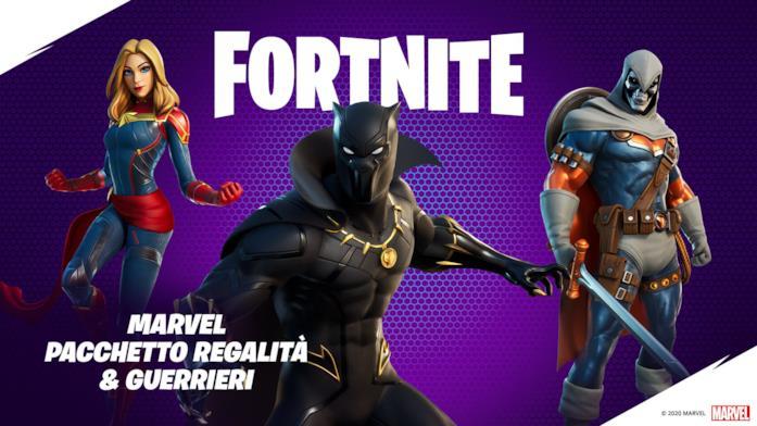 Immagine promozionale del Pacchetto Marvel: Regalità & Guerrieri