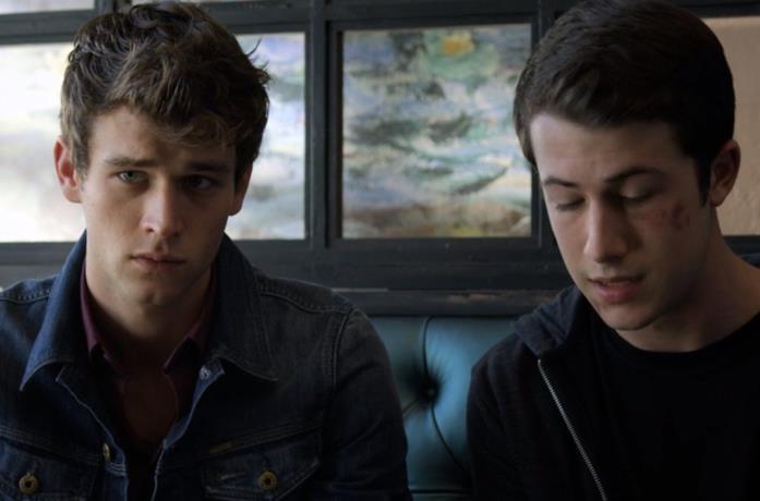 Un'immagine di Justin e Clay in Tredici