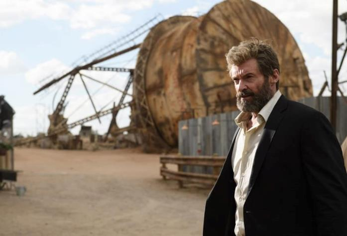 Un'immagine con Hugh Jackman nei panni di Wolverine nel film Logan - The Wolverin