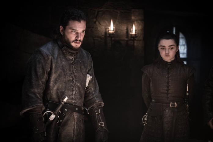 GoT 8: Jon/Aegon e Arya nelle Cripte di Winterfell