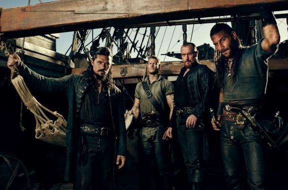 Il cast maschile di Black Sails