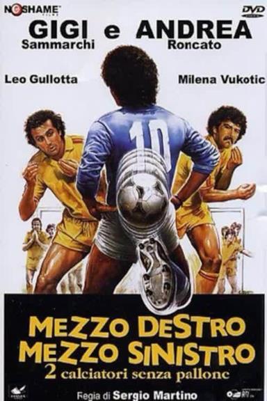 Poster Mezzo destro mezzo sinistro - 2 calciatori senza pallone