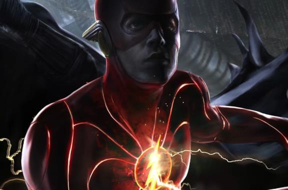 Un dettaglio della nuova armatura di Flash