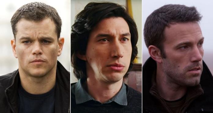 Collage dei tre attori in tre film