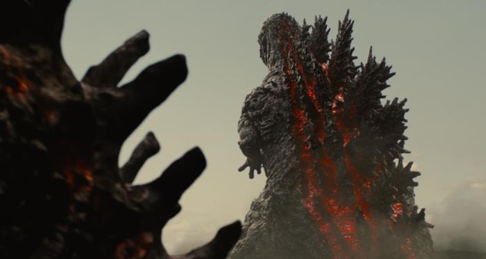 Godzilla di spalle in una scena di Shin Godzilla