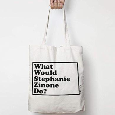 WHAT WOULD STEPHANIE ZINONE DO? WWYD tote bag in tela di cotone naturale NEI COLORI NATURALE O NERO GREASE 2