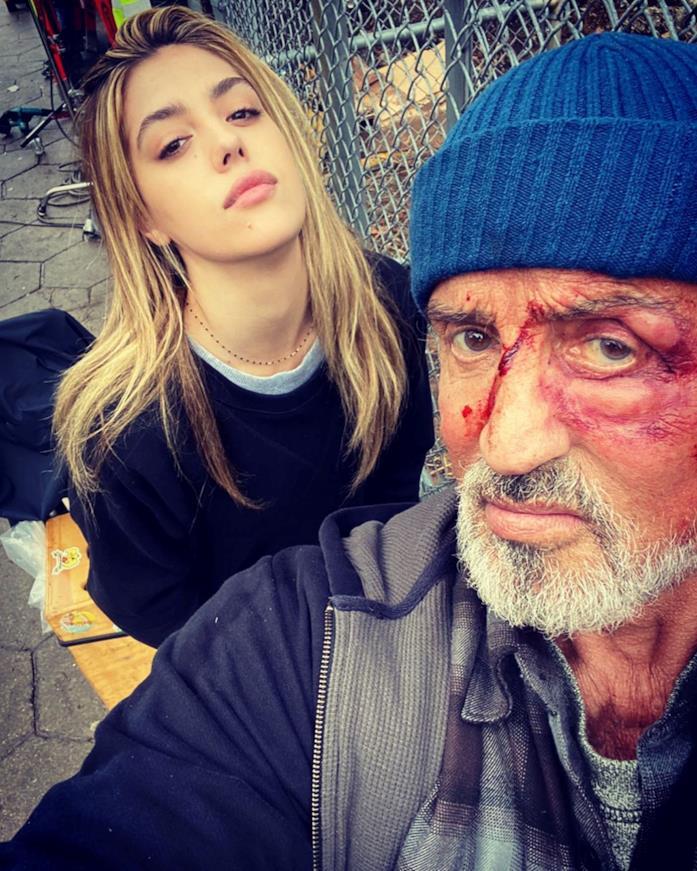 Sylvester Stallone sul set del film Samaritan