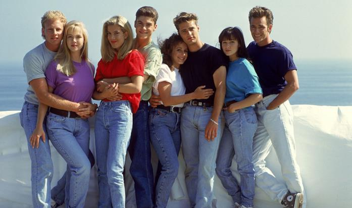 Steve, Kelly, Donna, David, Andrea, Brandon, Brenda e Dylan di Beverly Hills 90210