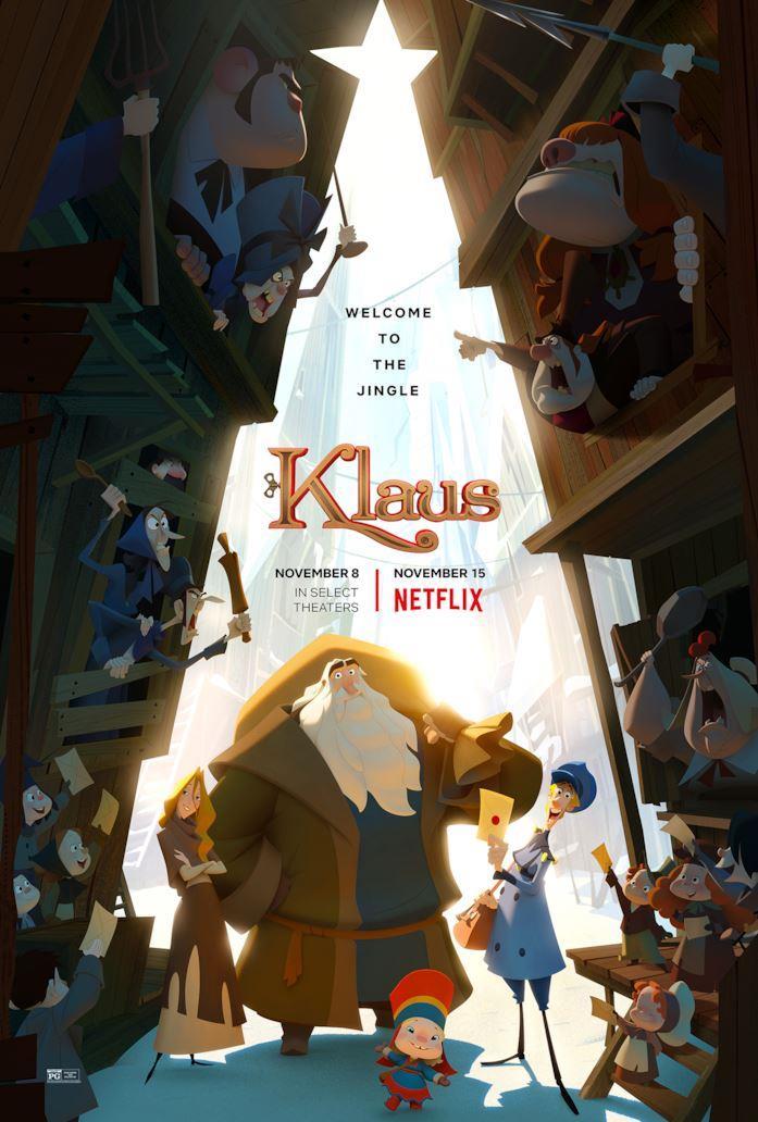 Klaus - I segreti del Natale, il poster del film d'animazione Netflix